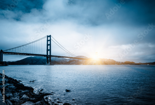 golden gate bridge in sunset