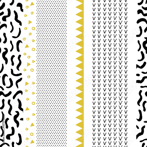 Abstract seamless pattern in scandinavian style.