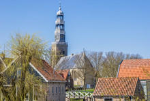 Church Tower In Historical City Hindeloopen