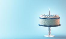 Torta Compleanno Con Candela A...