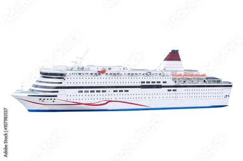 Obraz na plátne Stockholm, Sweden - March, 16, 2016: The image of a cruise ship near Stockholm,