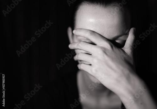 Fotografie, Obraz  Portrait of sad woman.