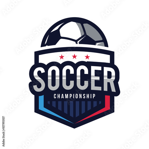 Photographie Soccer Logo, American Logo Sports