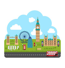 London, England. Urban Background