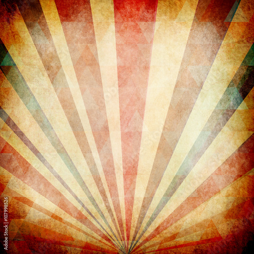 Foto op Plexiglas Retro Vintage Sunbeams Background
