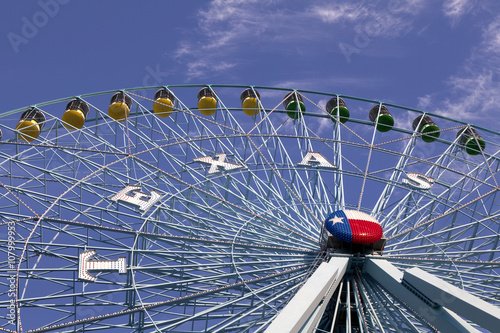 Fotografie, Obraz  Ferris wheel in Dallas Texas