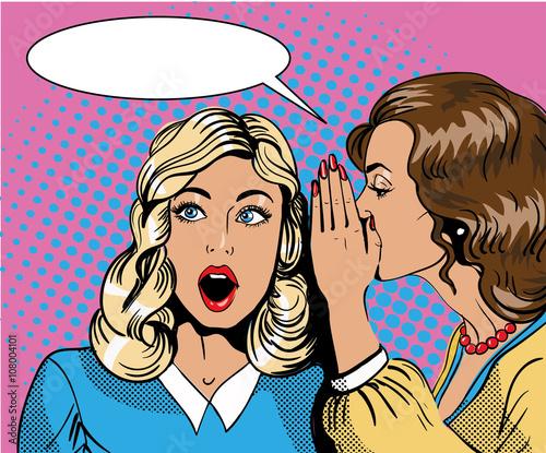 Fotografie, Obraz  Pop art retro comic vector illustration
