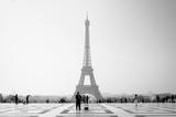 Fototapeta Fototapety z wieżą Eiffla - Early morning light at the Eiffel Tower in Paris - France