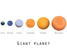 Giant Planet. Planets And Star...