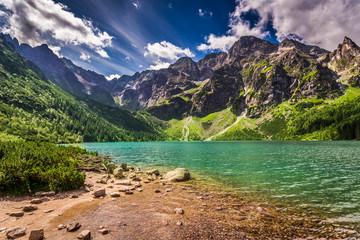 Lake in the Tatra Mountains at dawn, Poland