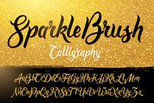 Calligraphic Brushpen Font Wit...