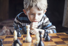 Boy  Plays Chess