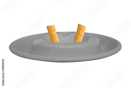 Fotografie, Obraz  Ashtray isolated on white