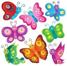 Happy Butterflies Theme Set 1