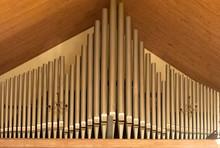 Church Organ Tubes Closeup Vie...