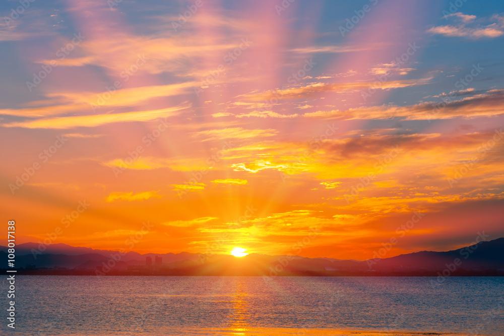 Fototapety, obrazy: 琵琶湖畔の朝