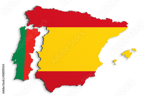Foto  Iberian Peninsula map