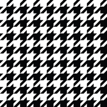 Houndstooth Pattern Black In Vector