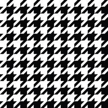 Houndstooth Pattern Black In V...