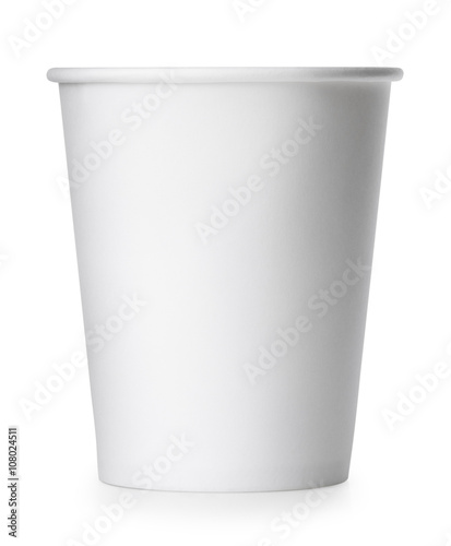 takeaway paper cup isolated on white with clipping path Canvas-taulu