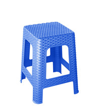 Blue Plastic Chair Isolated On...