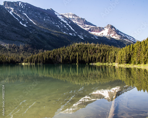 Glacier national park montana mountains and lakes Canvas-taulu
