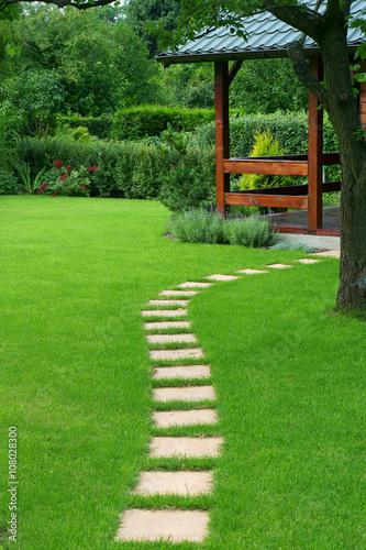 Fototapeta Beautiful lawn and path obraz