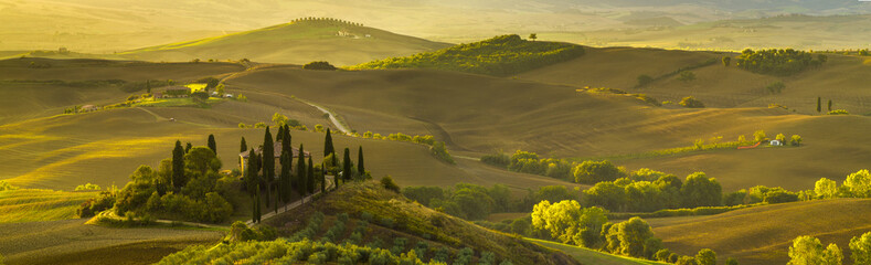 beautiful morning in Tuscany