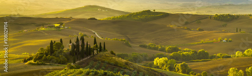 Deurstickers Toscane beautiful morning in Tuscany