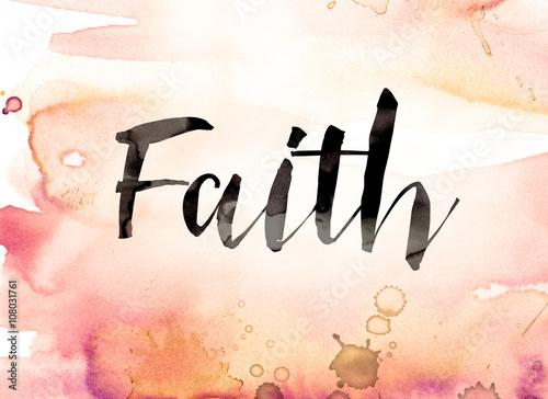 Tablou Canvas Watercolor Faith