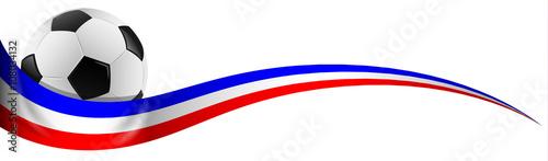 Fußball mit Frankreich Flagge Farben