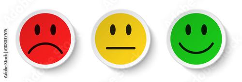 Cuadros en Lienzo smiley icon set - feedback