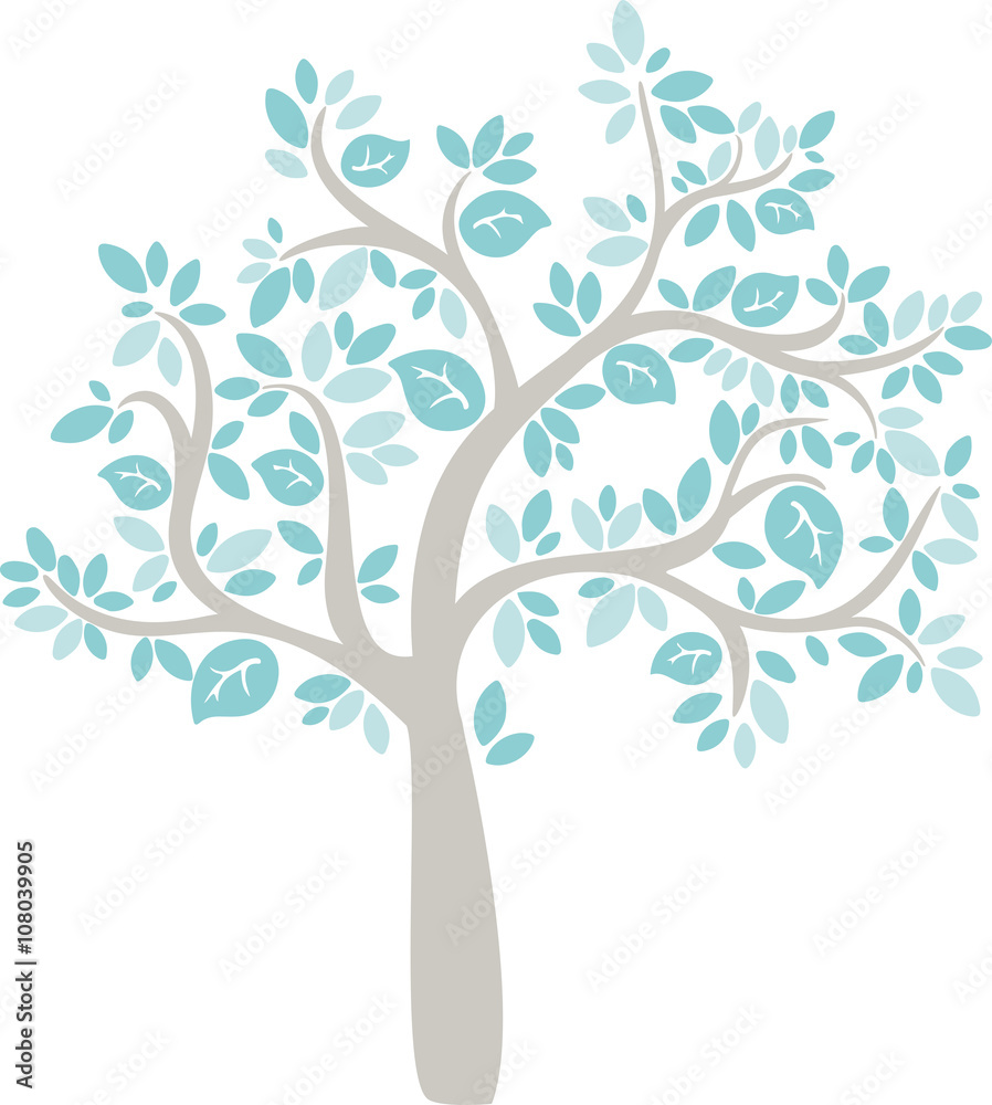 Fototapety, obrazy: babe blue cartoon vector tree