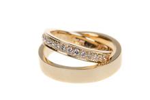 Golden Wedding Rings, Isolated...