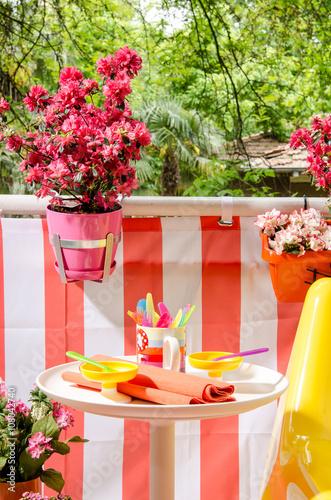 Fotobehang Tuin beautiful balcony