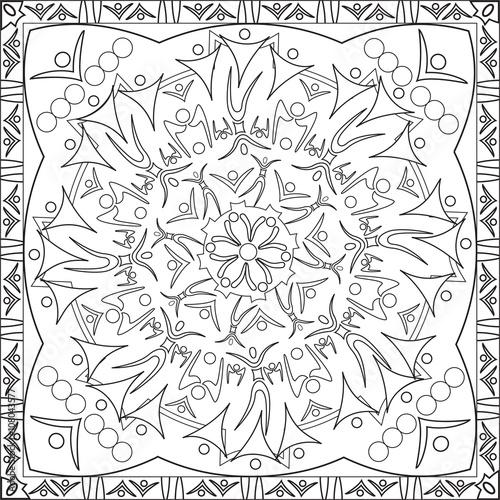 Coloriage Adulte Personnage.Page Coloriage Pour Adultes Livre Design Motif Mandala Personnages