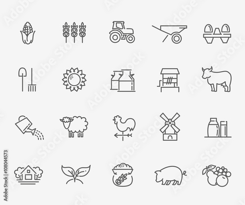 Agriculture and Farming icons Fototapete