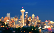 Seattle City Skyline Night