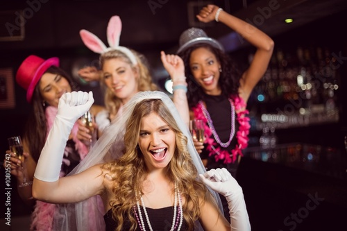 Friends celebrating bachelorette party Poster
