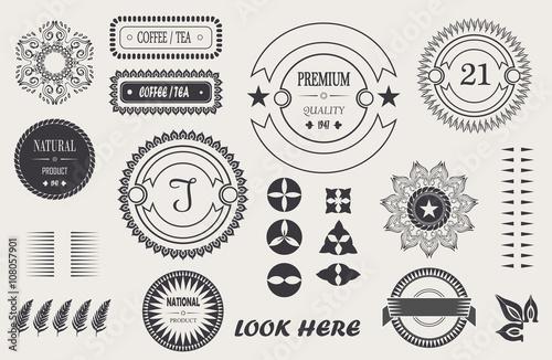 vector cool vintage elements for your design, baroque frame, logo ...