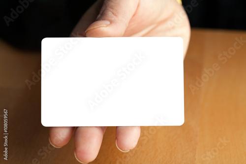 Fotografering  Hand Holding Blank Credit Card