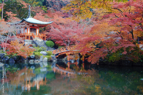 Foto op Canvas Japan Daigo-ji temple with colorful maple trees in autumn, Kyoto, Japa