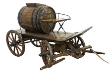 Old Firefigter Cart Isolated O...