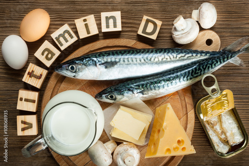 Fototapeta Foods rich in vitamin D obraz