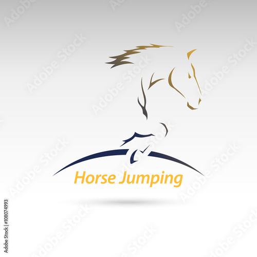 Photo  Horse Jumping Logo