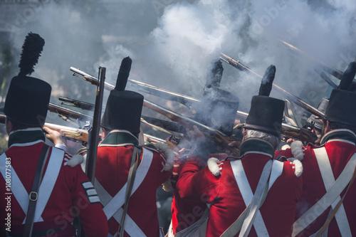 Foto  canada and usa reenacting war