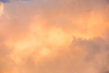Orange Clouds Sky Background