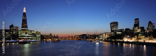 Panoramic London at night Wallpaper Mural