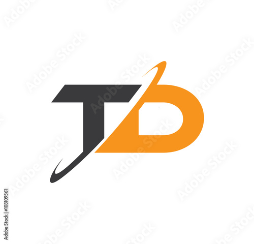 Td Initial Logo With Double Swoosh Buy This Stock Vector And
