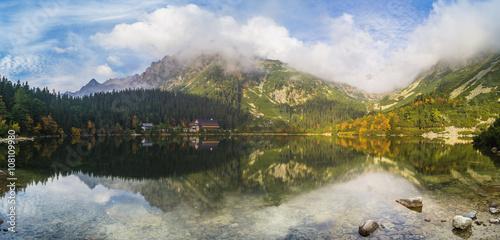 Foto auf Gartenposter Reflexion mountain lake , mountains reflected in the lake